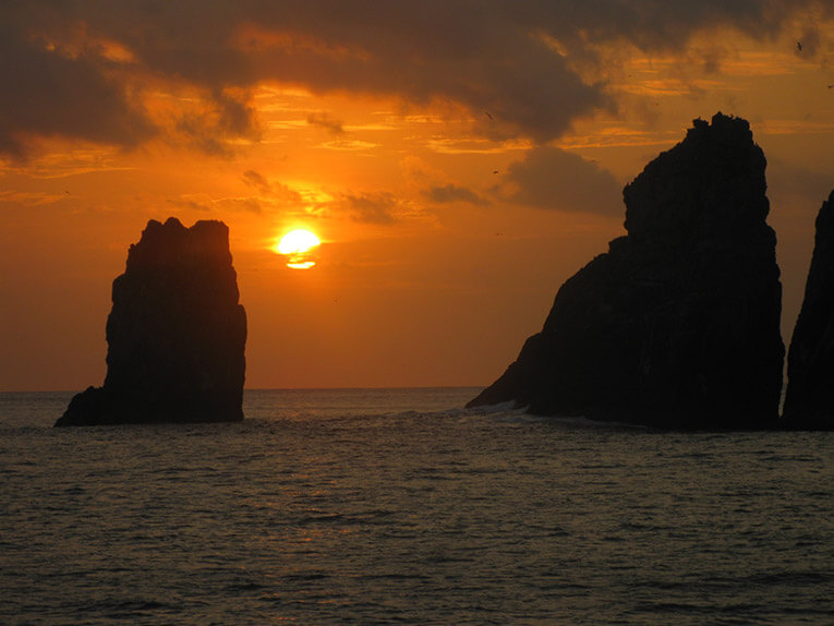 Sunset in Malpelo