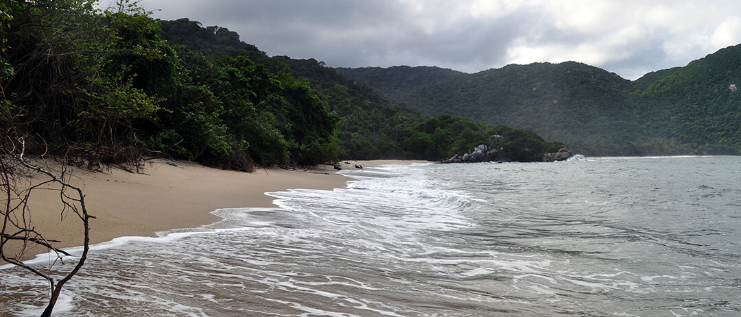 Playa Boca de Saco, playa nudista del Parque Tayrona