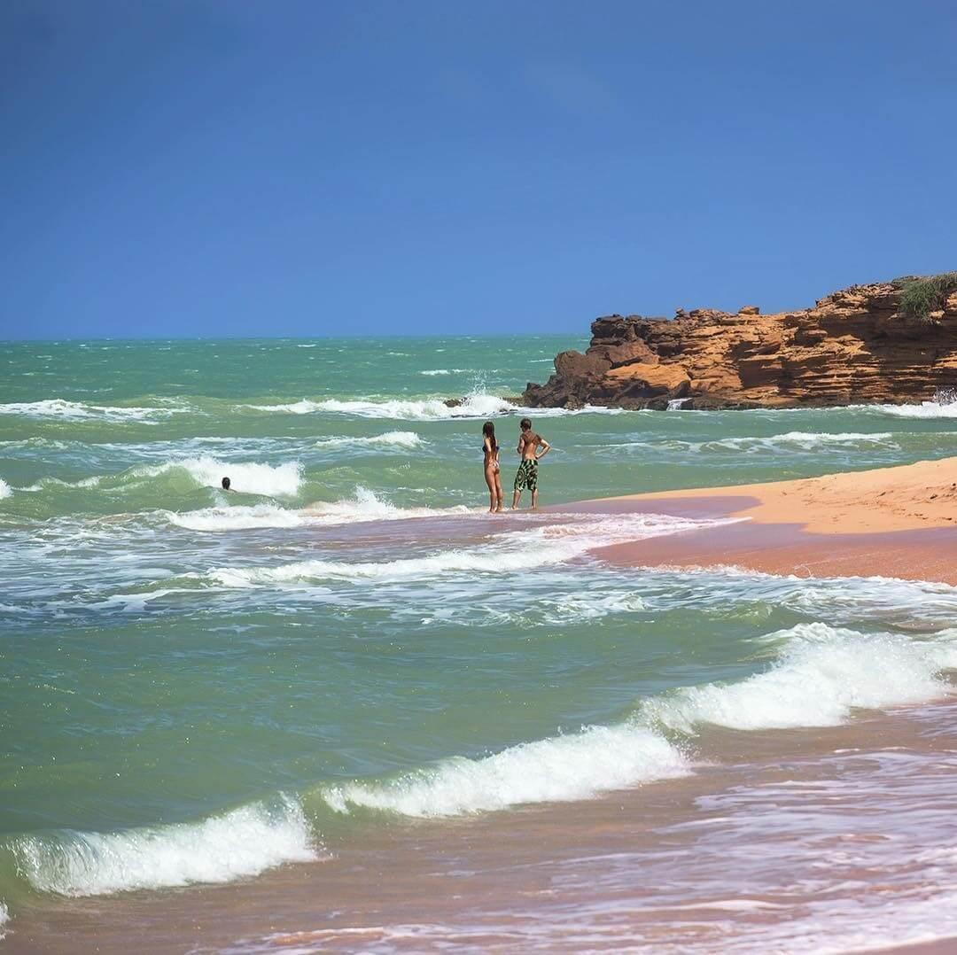 Personas en la playa de Punta Gallinas