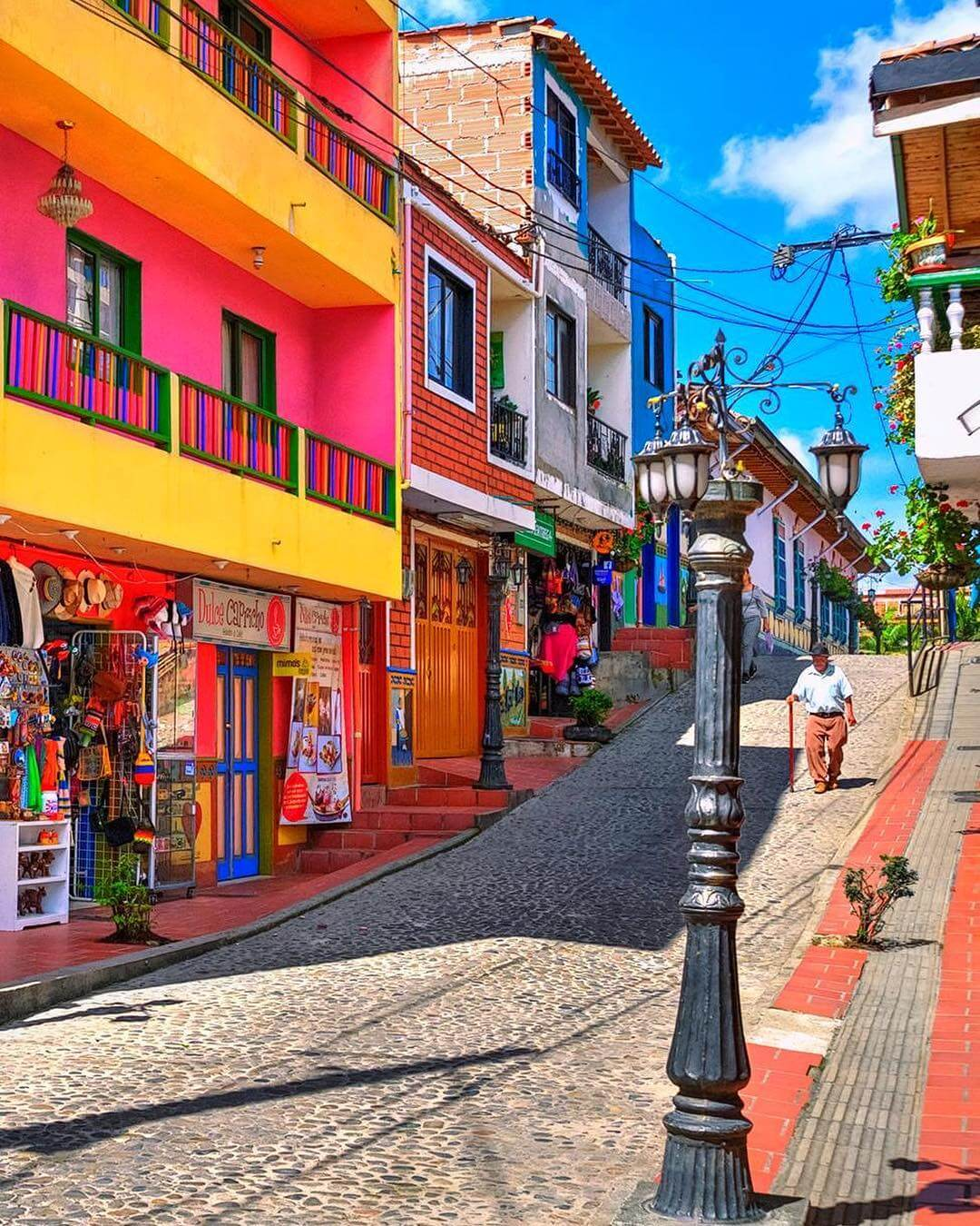 Colorful street of Guatapé