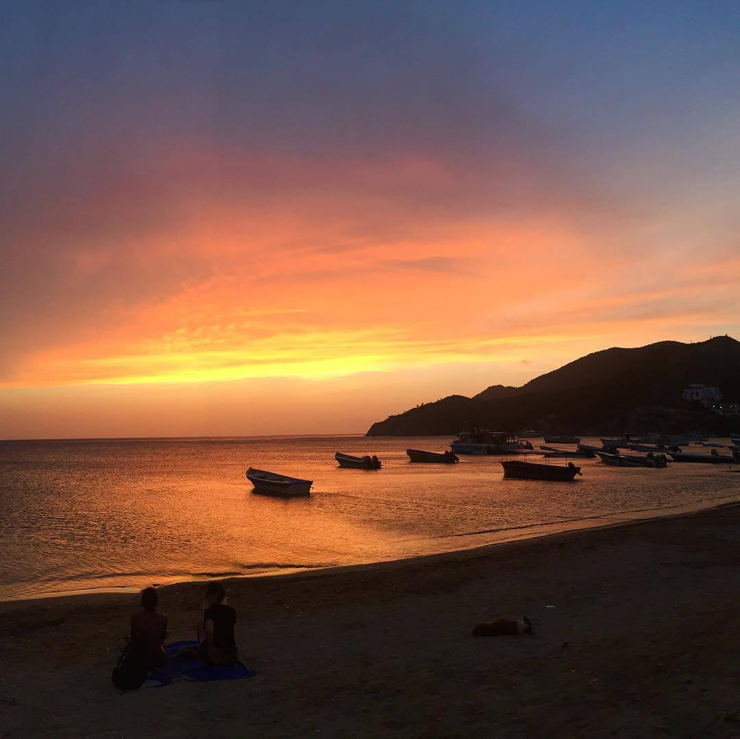 Sunset in Taganga beach