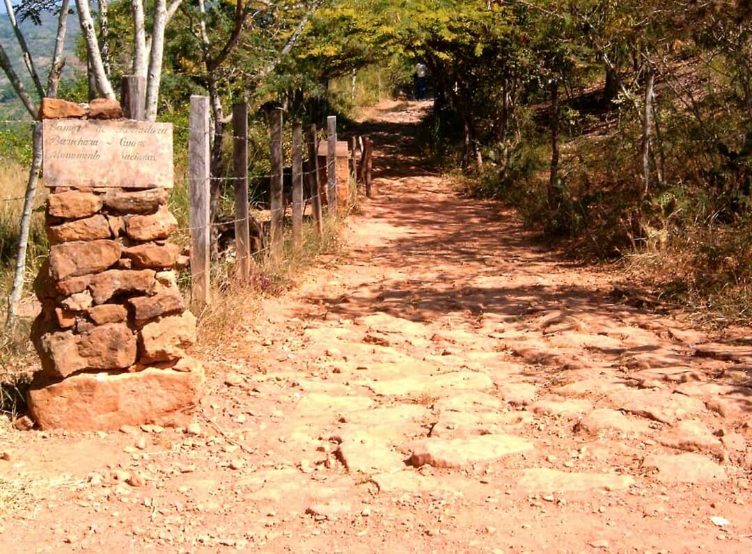 Camino real entre Barichara y Guane