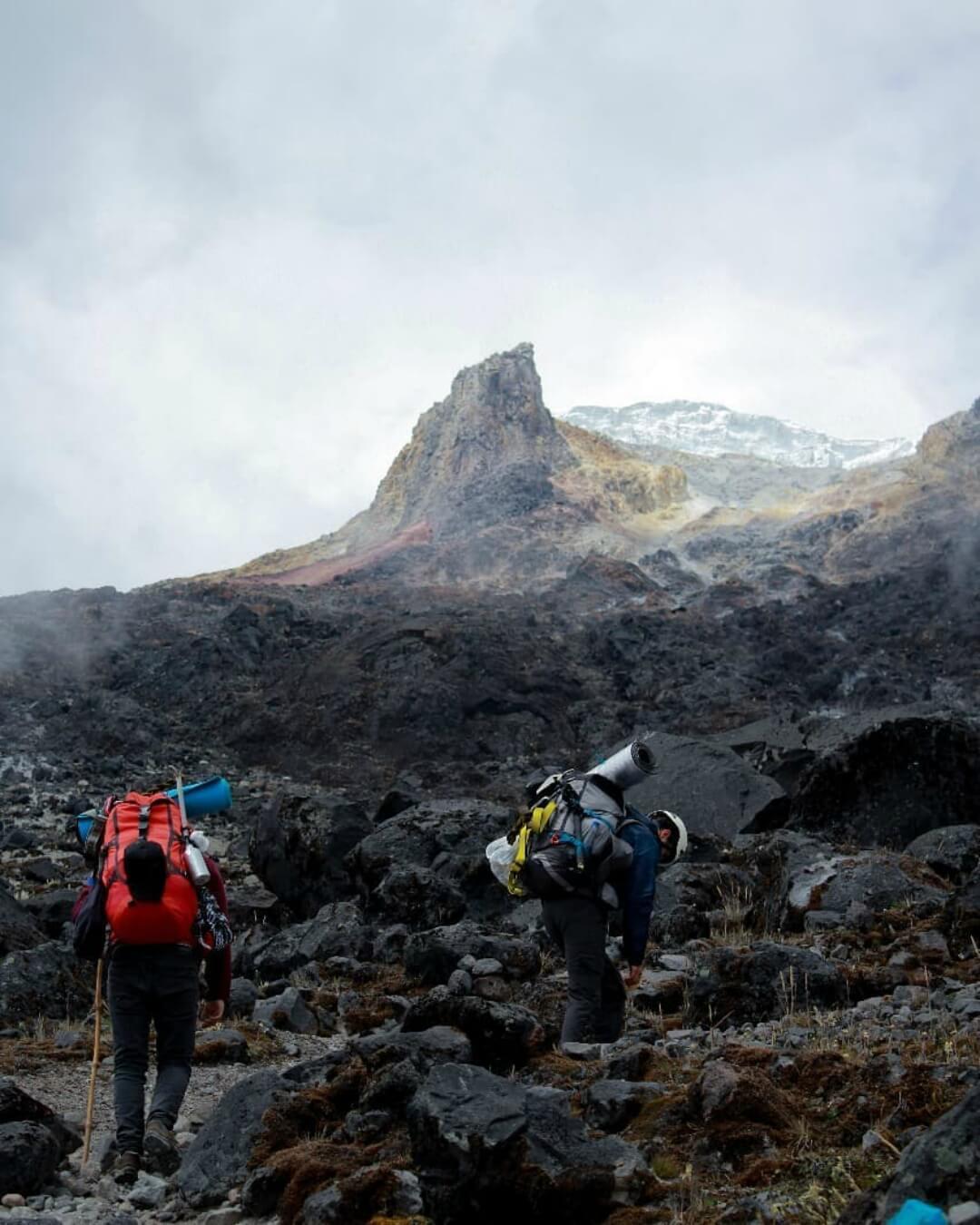 Trekking por el nevado del Tolima