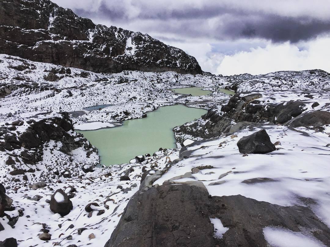 Nieve en el nevado Santa Isabel