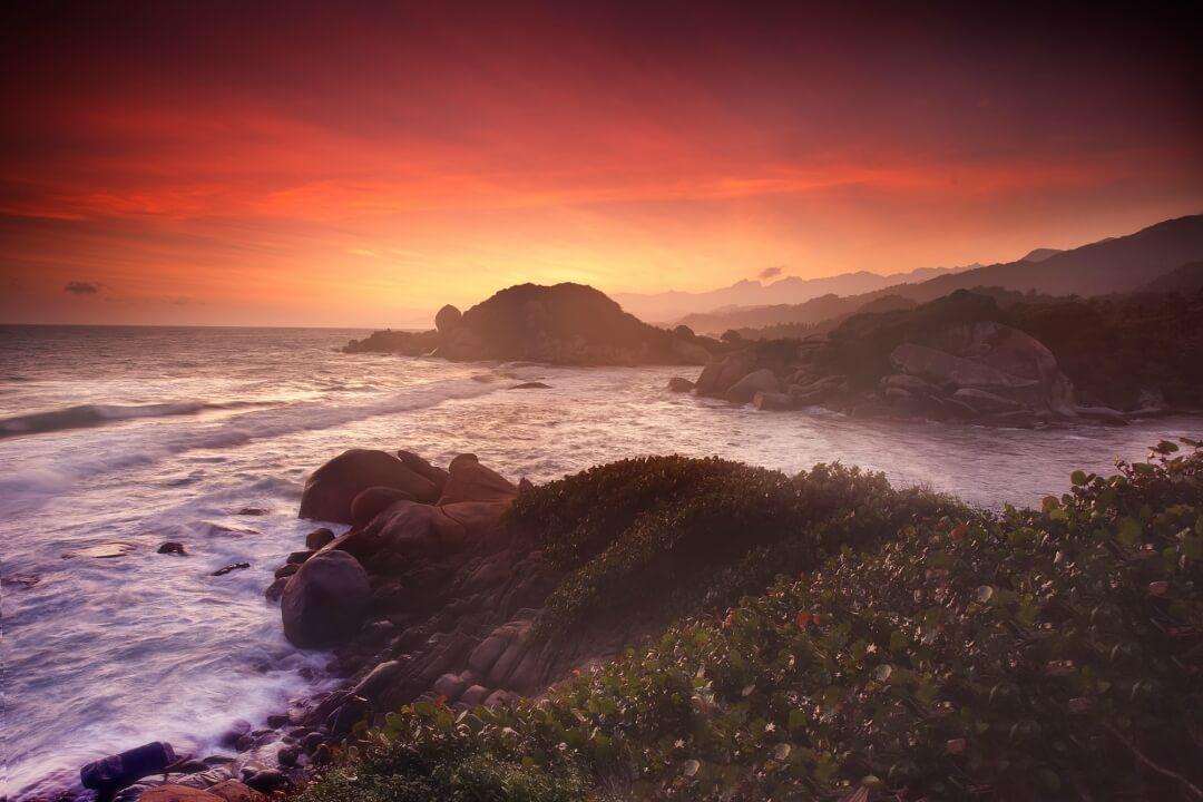 Sunset in the Tayrona