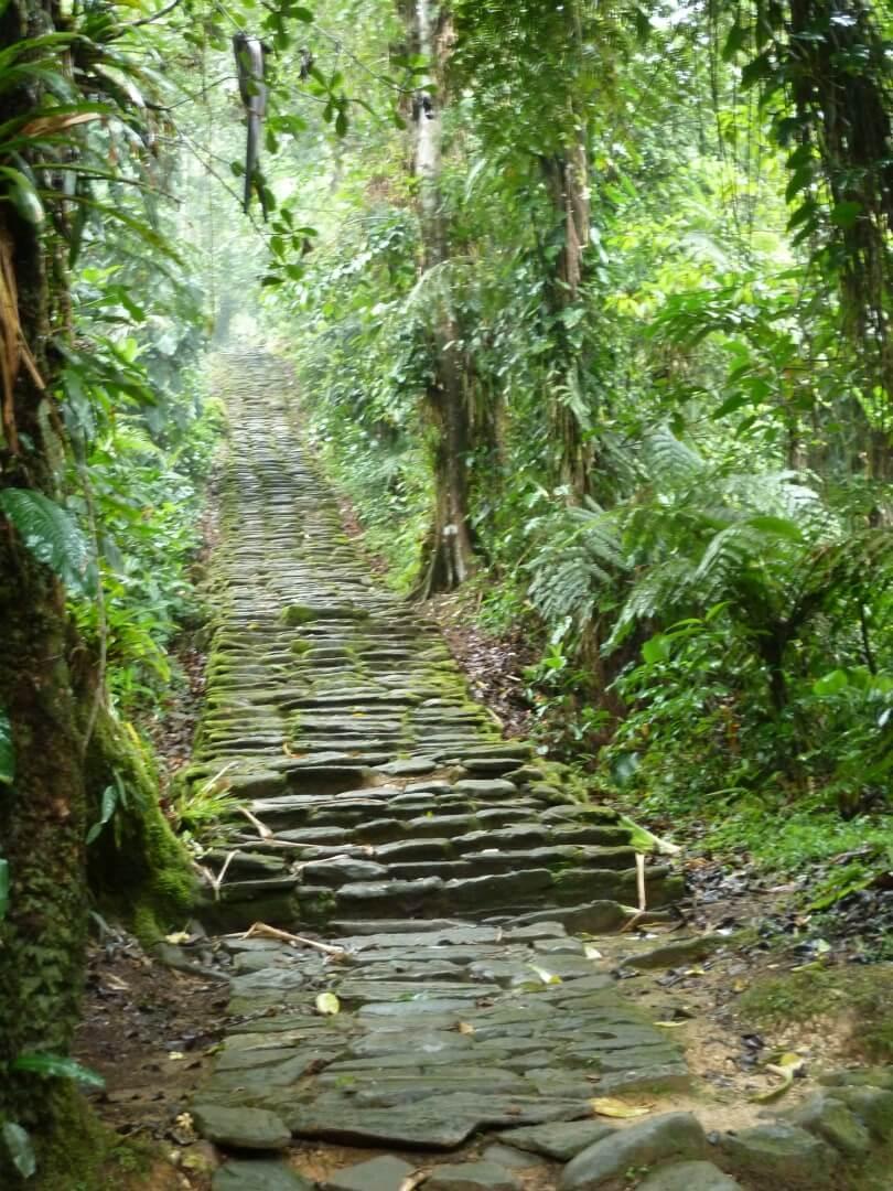 Ancient sacred road of Tayrona