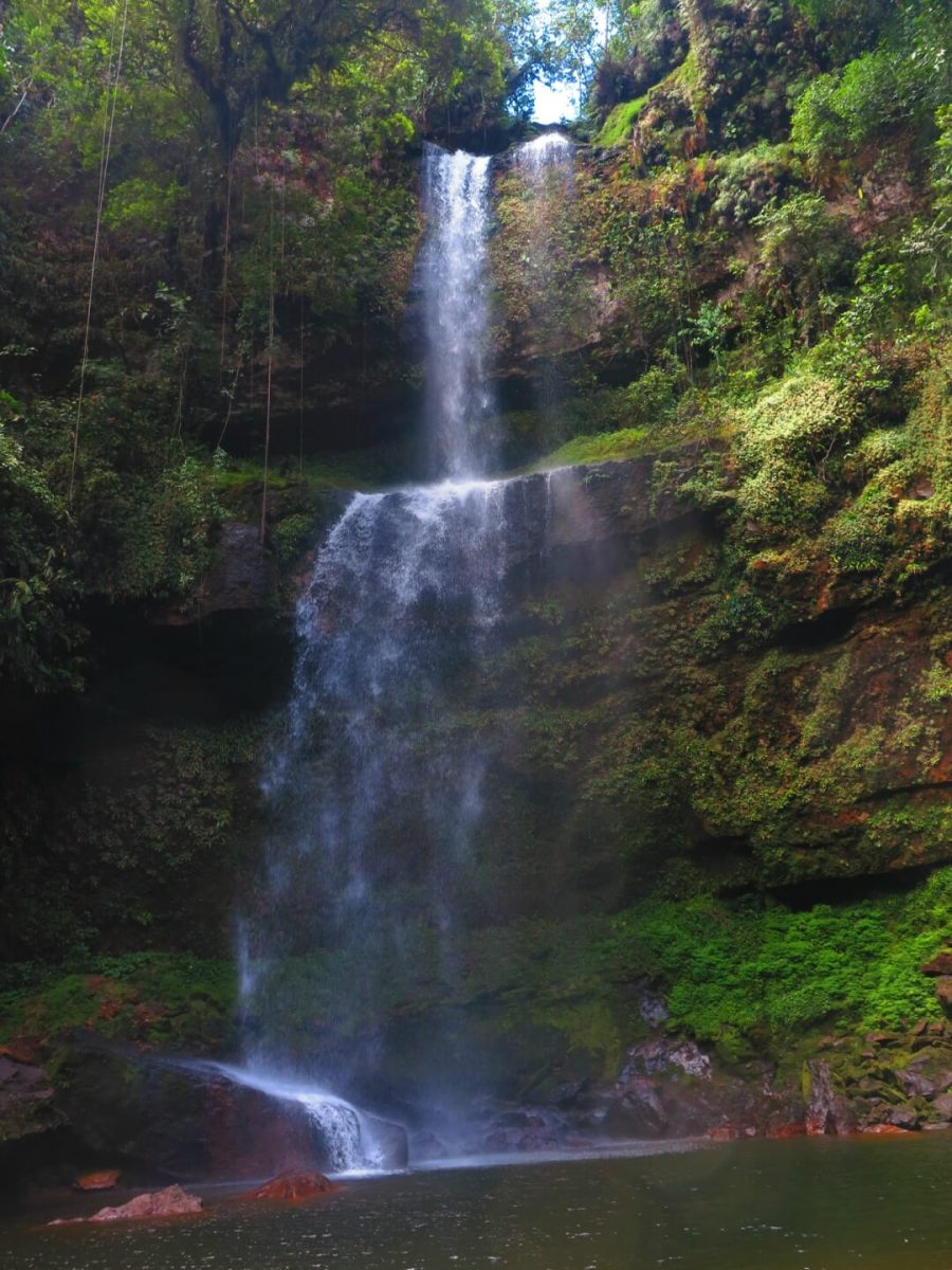 Hornoyaco waterfall seen from below