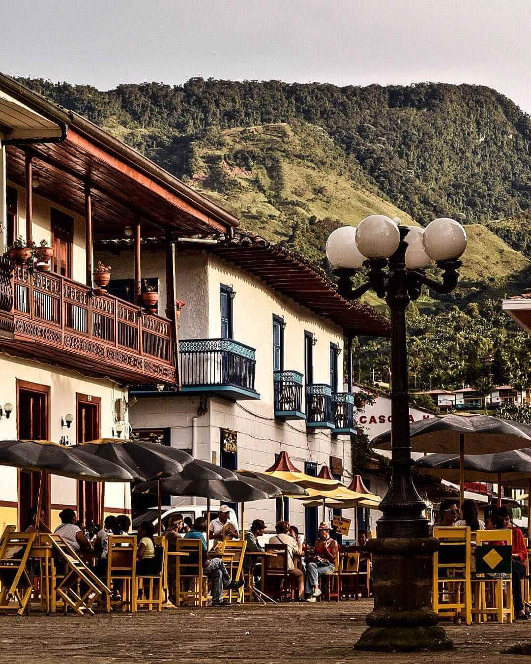 Authentic houses of small towns paisas
