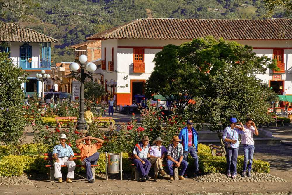 Local people in the main square
