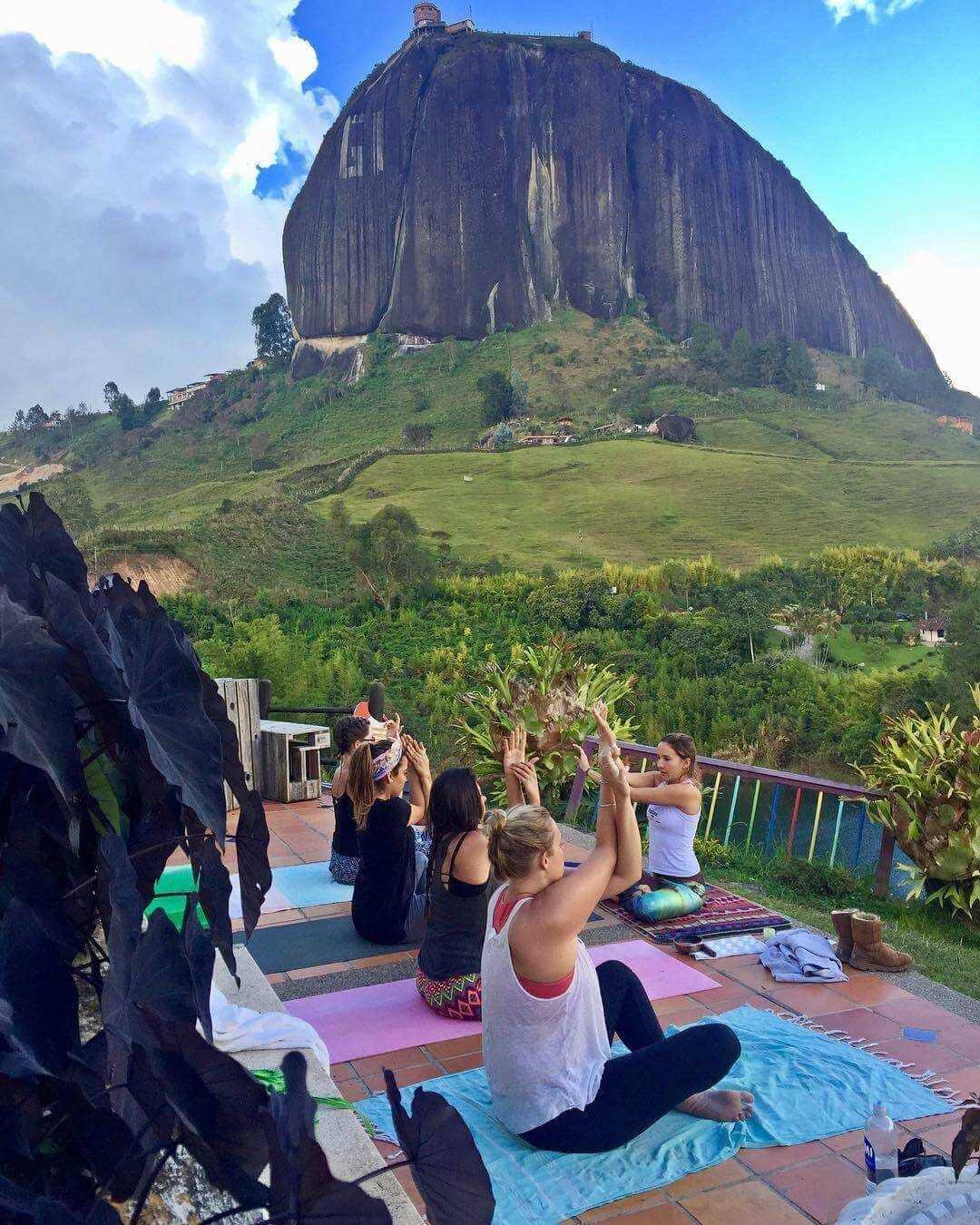 Yoga in Galeria Hostel Guatape