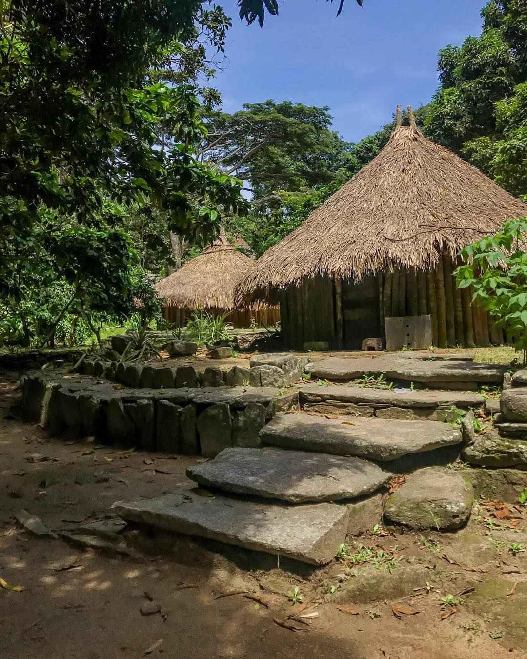 Pueblito Chairmada dentro del Parque Natural Nacional Tayrona