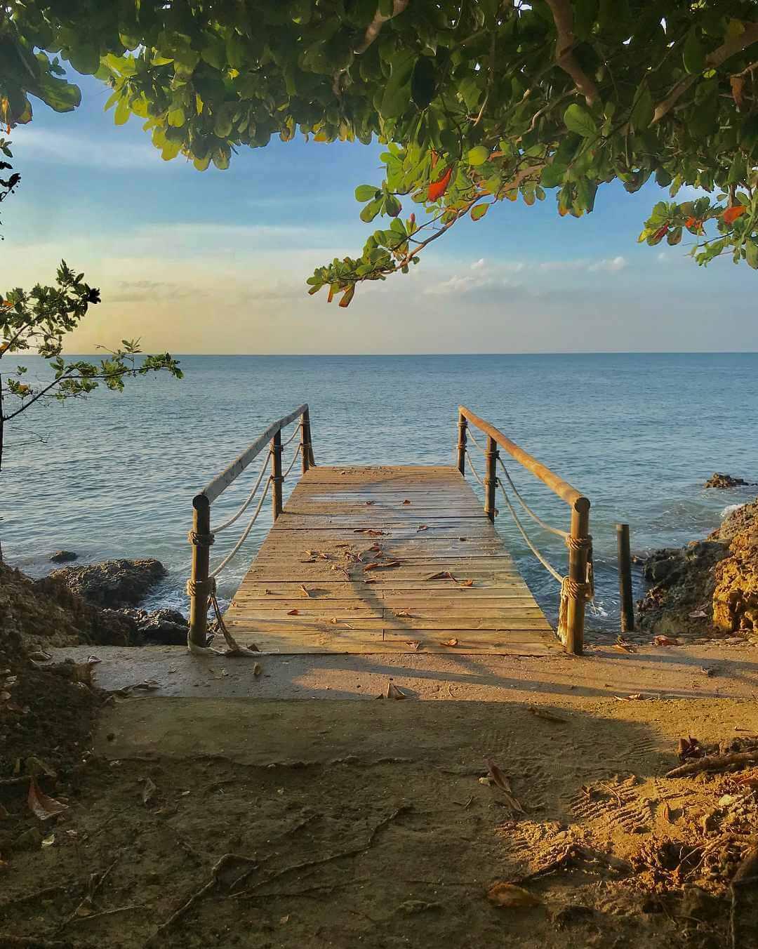 Muelle en Isla Fuerte PNN Corales del Rosario
