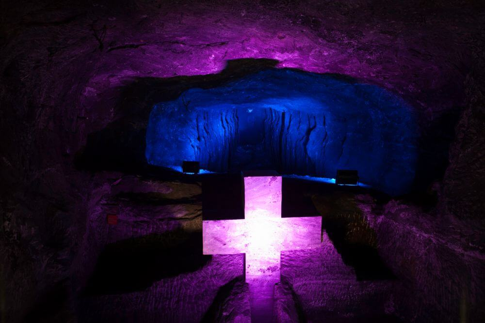 Interior of the salt cathedral of Zipaquirá