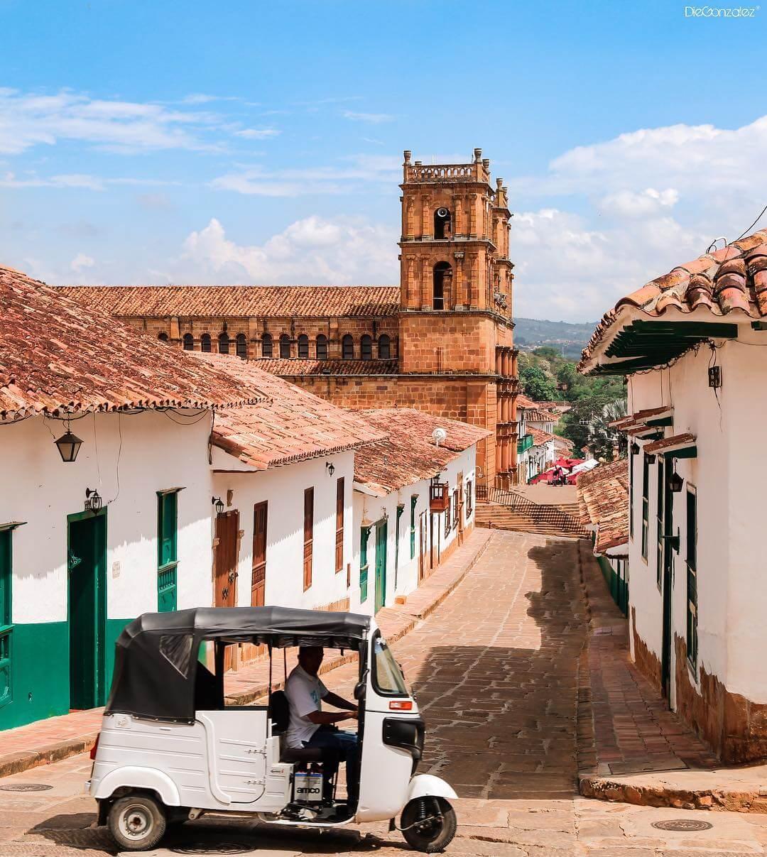 Mototaxi en Barichara