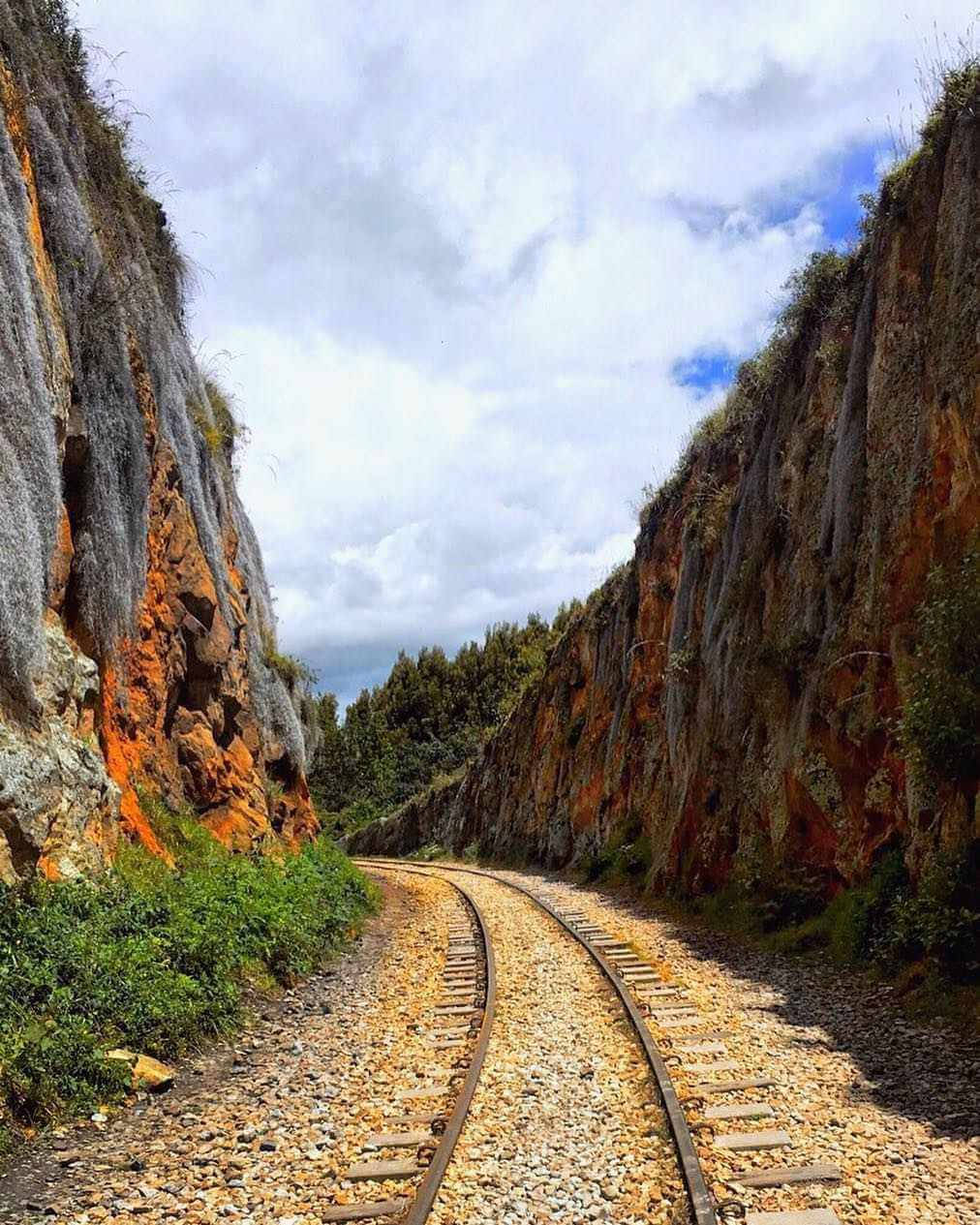 Railroad route in Suesca Colombia
