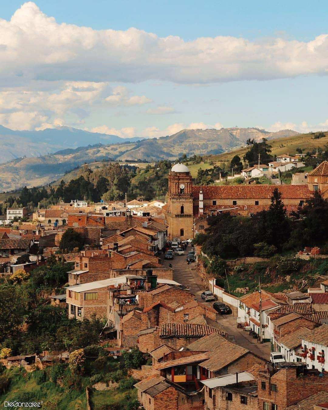 Panoramic of Monguí Boyacá