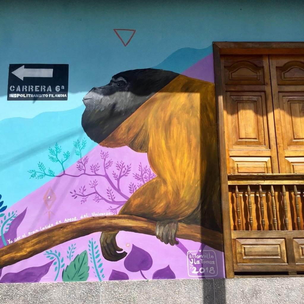 Mural de Mono aullador
