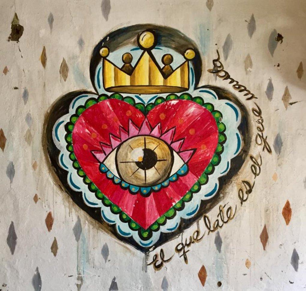Hearth mural
