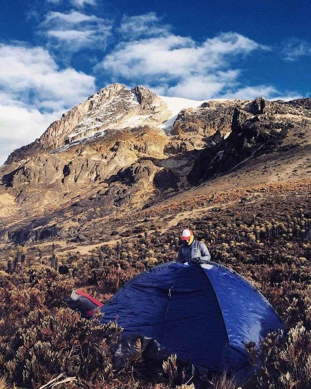 Campamento en el Nevado del Tolima