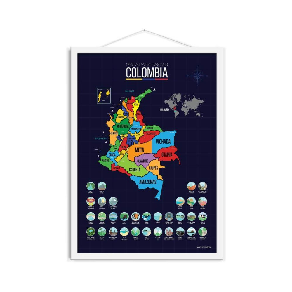 Mapa Scratch Colombia