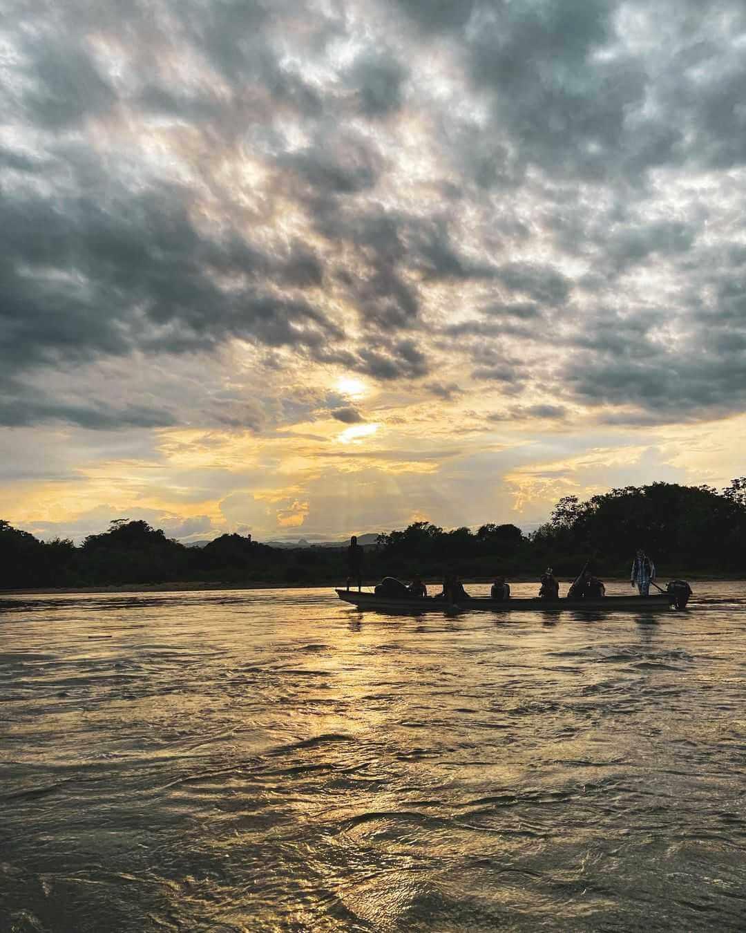 Atardecer en el Río La Miel